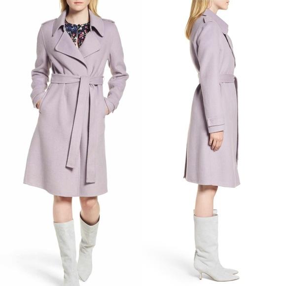 144031488b Badgley Mischka Chloe Double Face Wool Blend Coat NWT